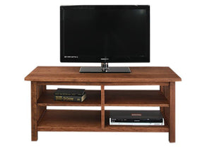 Crofters TV Stand in Cherry with Mahogany Wash Living Room furniture Made in the USA by Hardwood Artisans near Herndon VA