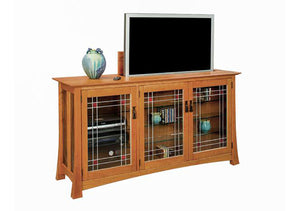 Glasgow TV Lift/Television Stand/Console/Living Room furniture Made in the USA by Hardwood Artisans near Fairfax Station VA