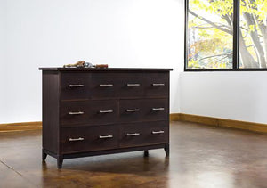 InTransit 7-Drawer Chest designed for small spaces and available in assorted hardwood bedroom furniture in Maryland