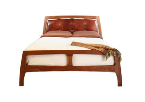 Linnaea mid-century modern style bed in full queen king sizes by Hardwood Artisans throughout Northern Virginia Maryland & DC