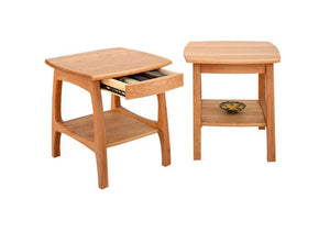 Linnaea End Table in Natural Cherry, Hardwood Artisans