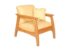 Linnaea Chair in Natural Cherry quality living room furniture set handmade by Hardwood Artisans in Virginia near Shirlington