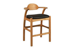 Linnaea Stool in Cherry handcrafted w/ Amish joinery techniques, hand-finished American-Made home furniture near Capital Hill