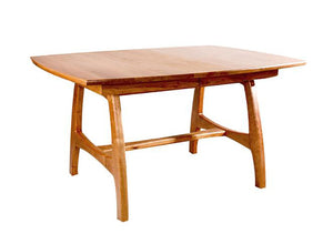 Standard Linnaea Trestle Table in Natural Cherry, Hardwood Artisans