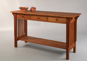 Parlor Hall Table in Mahogany, Hardwood Artisans