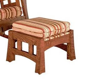 Mackintosh Footstool in a selection of fabrics and assorted hardwoods made to order interior furniture by Hardwood Artisans