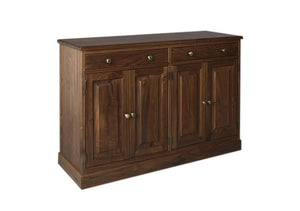 Shaker Bradlee Sideboard, or buffet, is traditionally used for serving food in the dining room, storing or displaying dishes