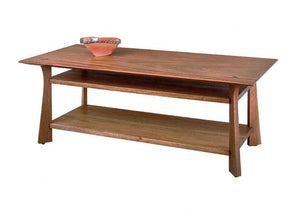 Waterfall Coffee Table in Mahogany, Hardwood Artisans