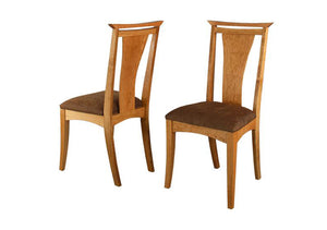 Waterfall Side Chairs in Natural Cherry, Hardwood Artisans