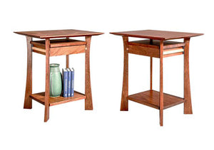 Waterfall Nightstands in Mahogany with Maple Accents, Hardwood Artisans
