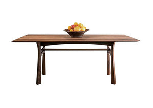 Large Waterfall Table in Walnut, Hardwood Artisans