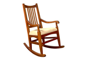 Highland Rocker in Mahogany handmade rocking chair furniture w/ your selection of fabric in Virginia near Fauquier County