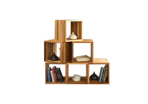 Jeannie Cube is a sustainable & functional display or storage furniture also uses as end table, coffee table or room divider