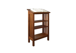 Lectern w/ lower shelves by Hardwood Artisans - Office Furniture Floor Podium hold material for lecturer while speaking in DC