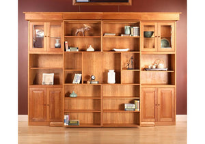 Library Wall Bed custom modern bedroom furniture, sliding bookcases and pull-out bed made to last by Hardwood Artisans, VA