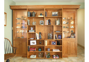 Library Wall Bed bedroom furniture cabinet in red oak, birch, maple, cherry, mahogany, curly maple or 1/4 sawn white oak wood