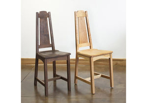 Limbert Chair shown in Oak & Cherry, Arts and Crafts style hardwood furniture w/ lumber from sustainable foresting companies