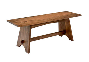 Nantucket Bench in Walnut features indoor solid wood furniture you'll love Made in Virginia, Made in America, Made in the US