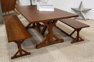 Farm Table is the perfect Country Family Style Kitchen/Dining Furniture available in an assortment of hardwoods and finishes