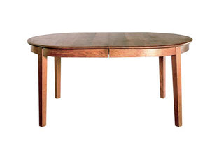 Oval 4-Leg Table in Cherry with Mahogany Wash, Hardwood Artisans