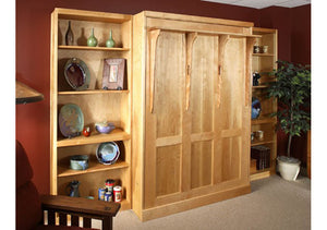 Panel Wall Bed opens from the top, solid wooden bedroom furniture is Hand Made in Virginia near Washington DC, & Maryland