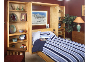 Panel Wall Bed is a space-saving extra pull-out bed for spare rooms which quality is handcrafted by Hardwood Artisans