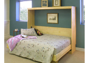 Side Panel Wall Bed is a space-saving extra pull-out bed for spare rooms which quality is handcrafted by Hardwood Artisans
