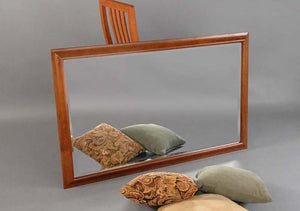 Simply Beautiful Mirror in Cherry with Mahogany Wash hung Horizontally, Hardwood Artisans