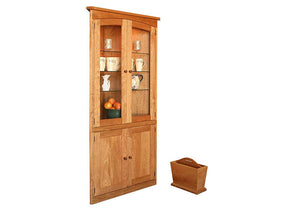 Simply Beautiful Corner Cabinet in Natural Cherry, or hutch, proves as a good solution with style where space is limited