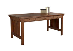 Mission Table Desk 1/4-Sawn White Oak with English Oak Stain, Hardwood Artisans