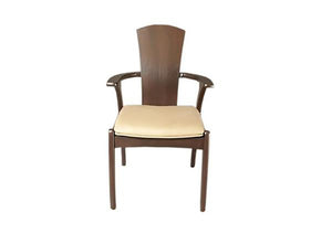 Linnaea Tall Back Chair shown with upholstery seat, handmade dining furniture order online with delivery in VA, MD, and DC