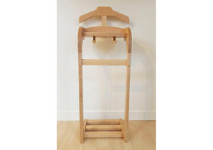 Wardrobe Valet Stand, Clothes Valet, Men's Valet, Suit Stand, includes trouser/jacket hanger bar, shoe bars, tray organizer