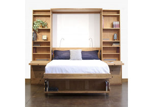 Desk Wall Bed is a modern custom made pull-out bed ideal for student or office spaces & extra sleeping bed in VA, MD, and DC