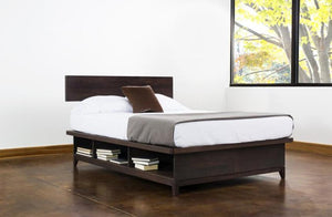 Intransit Bedroom Collection for small spaces - offers under-bed drawers made by Hardwood Artisans throughout VA, MD, DC area