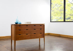 Susan Dresser is a petite and delicate bedroom furniture design for small spaces, by Hardwood Artisans, Handmade in America