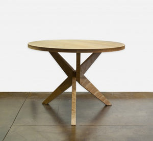 Union Table is an artistic round table by Hardwood Artisans a bespoke furniture maker in Virginia, Maryland & Washington DC