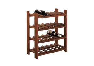 Large Wine Rack in Mahogany, available in assorted hard woods, hols up to 24 bottles, quality furniture at Hardwood Artisans