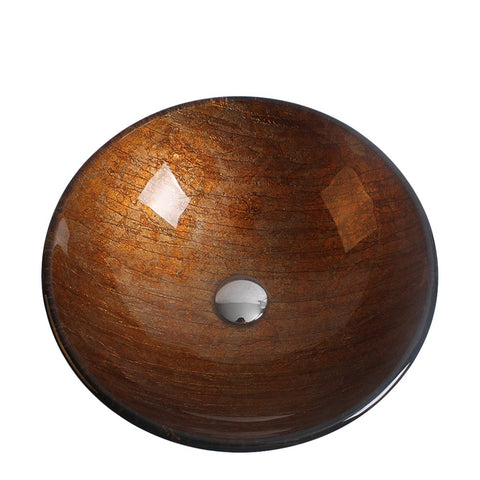 Arsumo Ancient Memory Circular Glass Vessel Bathroom Sink BWY10-128