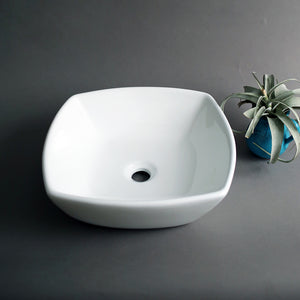 3011 Ceramic Art Square Vessel Bathroom Sink