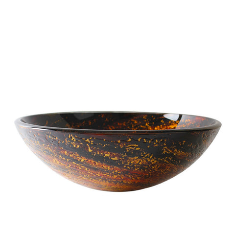 14011 Arsumo Circular Hand Crafted Glass Vessel Sink (Sink only)