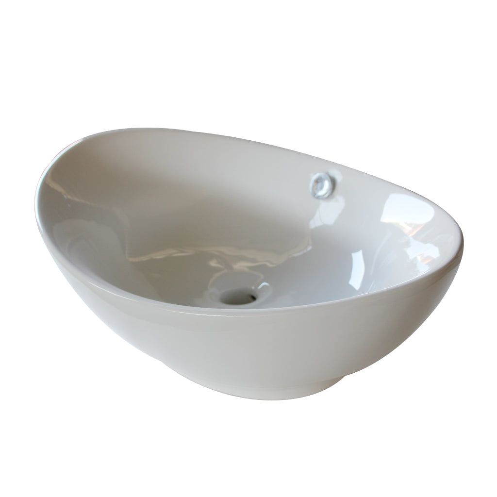 3008 Ceramic Oval Vessel Bathroom Sink