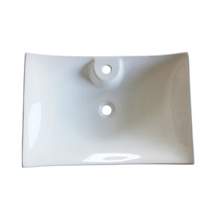 497 Ceramic Rectangular Vessel Bathroom Sink