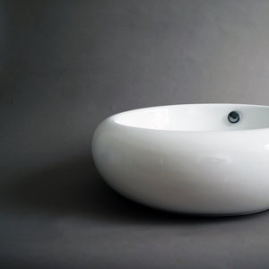 493 Ceramic Circular Vessel Bathroom Sink