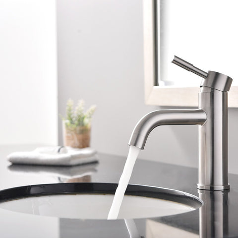 Arsumo Single Hole One Handle Modern Faucet,Brushed Nickel