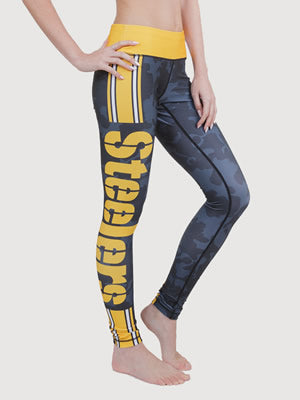 Pittsburgh Steeler Camo Legging