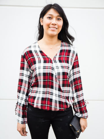 Camilla Plaid Blouse