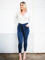Olivia High-Waisted Denim