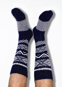 Men's Navy Knit Cotton