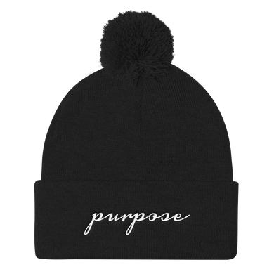 'Purpose' Pom Knit Beanie