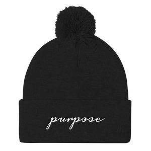 Purpose Pom Knit Beanie